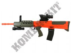 British Army SA80 Style Rifle Airsoft BB Gun Green and Orange